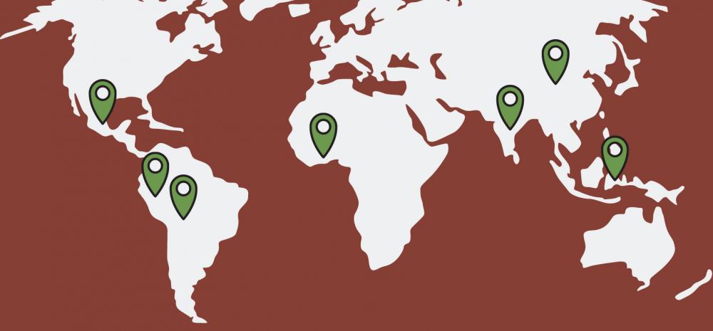 Fairtrade wereldkaart